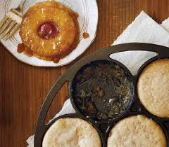 mini pineapple upside down cakes lodge cast iron
