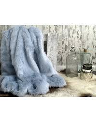 fur throws for sofas baby blue faux fur throw ebay