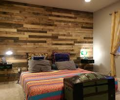 Accent Walls In Bedroom by Pallet Accent Wall 4 Steps With Pictures
