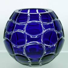 Cobalt Blue Crystal Vase Colored Genuine Cased Lead Crystal Vase Attractive Fine Crystal