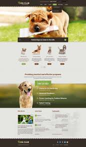 dog club html bootstrap theme template gridgum