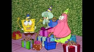 spongebob squarepants happy birthday squidward youtube