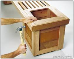 planter bench plans woodwork city free woodworking plans