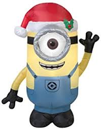 Buy Christmas Yard Decorations by Amazon Com 8 U0027 Despicable Me Inflatable Minion Kevin With Candy