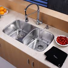 Kitchen Faucet And Sink Combo Kitchen Design Ideas Double Bowl Kitchen Sink Stainless Steel