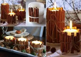 composizione di candele idee originali per decorare il vostro natale con la cannella