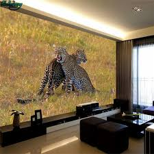 wildlife home decor beibehang large custom wallpapers hd photography two leopard