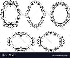 halloween border vector vintage frames and borders royalty free vector image
