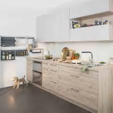 cuisine blanc laqué plan travail bois cuisine blanc laque plan travail bois 3 cuisine blanche sans