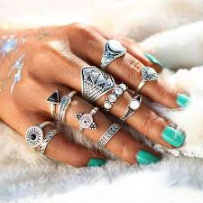 opal stone rings images Bonnie 10 pieces bohemian opal stone crystal knuckle ring set jpg