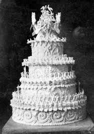 sweet history detail of the wedding cake of elizabeth ii