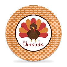 thanksgiving plate turkey melamine