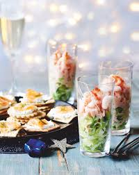 cocktails and canapes food mini prawn cocktails and smoked salmon canapes