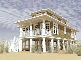 beach house plans narrow lot floor plan raised lrg 6e1165cd529