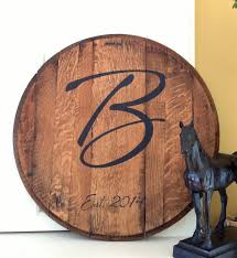 monogram guest book personalized monogram barrel great wedding gift