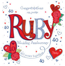 what is 40th wedding anniversary verses for ruby wedding cards 28 images image result for