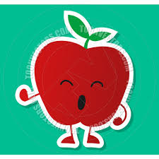 cute cartoon apple fruit character by durantelallera toon