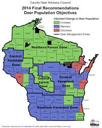 Northern Wisconsin Map by Hunters Not Biologists Establish New Wisconsin Deer Population