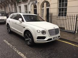bentley bentayga white 2016 rent it in uk luxury suv