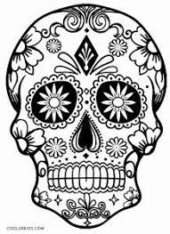 day of the dead skull vector set illustrations and