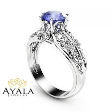 rings with tanzanite images Bluish violet tanzanite engagement ring natural tanzanite ring in jpg