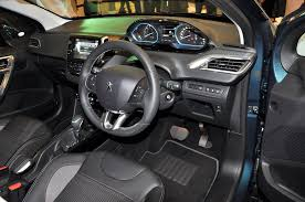 peugeot 2008 interior 2015 peugeot 208 and 2008 with puretech engines launched autoworld com my