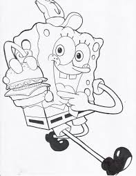 spongebob coloring pages print patrick santa