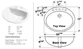 standard sink drain size nice looking standard bathroom sink size minimalist dimensions sizes