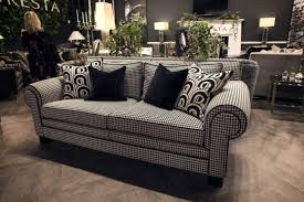 unique charm furniture simple black and white pattern of the sofa brings