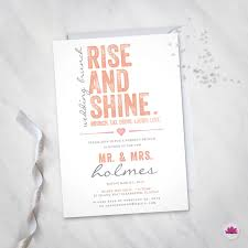 morning after wedding brunch invitations the morning after wedding brunch invitation digital file