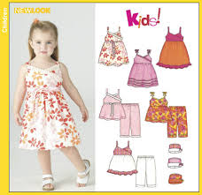 new look 6396 toddlers dresses tops cropped and hat