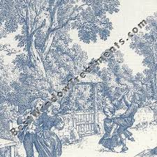 Blue Toile Curtains Toile Curtains With Tie Backs