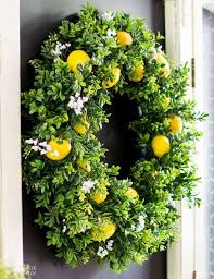 summer lemon wreath with lemon scent hometalk