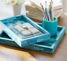 Blue Desk Accessories Turquoise Desk Accessories Pottery Barn