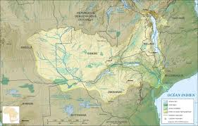 map of zambia detailed relief map of zambia zambia detailed relief map