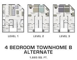 four bedroom townhomes floor plans archives page 4 of 5 hannah lofts and townhomes