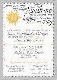 you are my sunshine baby shower invitations best inspiration