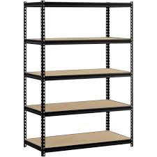 Free Standing Garage Shelves Plans by Plano 4 Tier Heavy Duty Plastic Shelves White Walmart Com