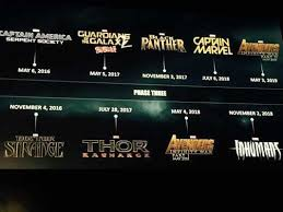 marvel film schedule through 2018 business insider