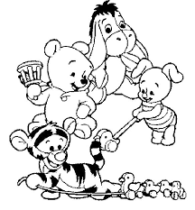 coloring pages winnie pooh babies funycoloring