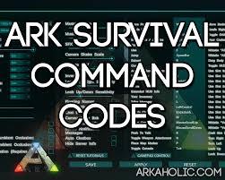 ark survival evolved command codes u0026 cheats
