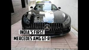 mercedes shares india s 1st mercedes amg gt r shares garage with aventador sv