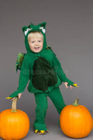 Boys Pumpkin Halloween Costume Boy Kid Child Dragon Costume Pumpkins Halloween Stock Photo