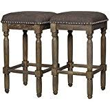 amazon com renate grey counter stools set of 2 by renate