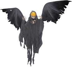 motorized halloween props winged reaper animated prop buycostumes com