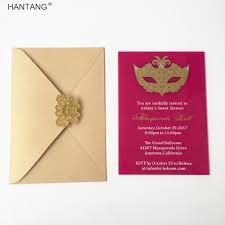 Sweet Sixteen Invitations Cards Aliexpress Com Buy Customized 5x7inch Fuchsia Acrylic Birthday