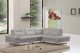 Italian Sectional Sofas by Carmel Modern Taupe Italian Leather Sectional Sofa W Adjustable