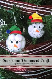 christmas craft make your own snowman ornament