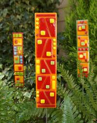 Glass Garden Decor 551 Best Fused Glass Yard Art Images On Pinterest Stained Glass