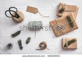 wrapped christmas boxes set gift wrapping christmas gift boxes stock photo 508839853